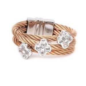 Charriol Malia ring sliver & rose gold NIB